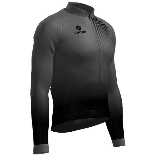 Maillot ProVtr ML 2020 negro/gris