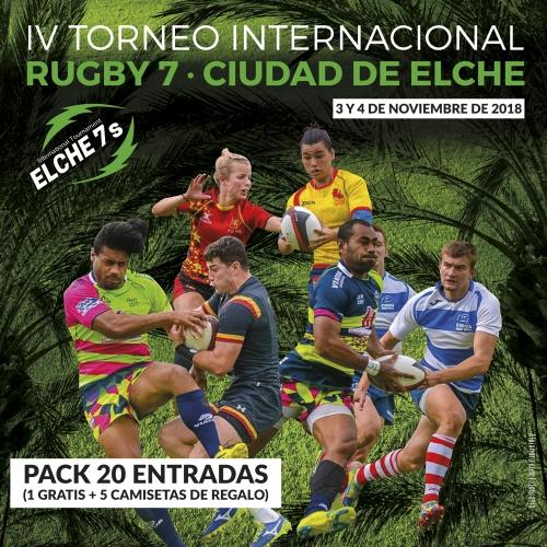 PACK 20 ENTRADAS · IV TORNEO INTERNACIONAL RUGBY 7 · CIUDAD DE ELCHE